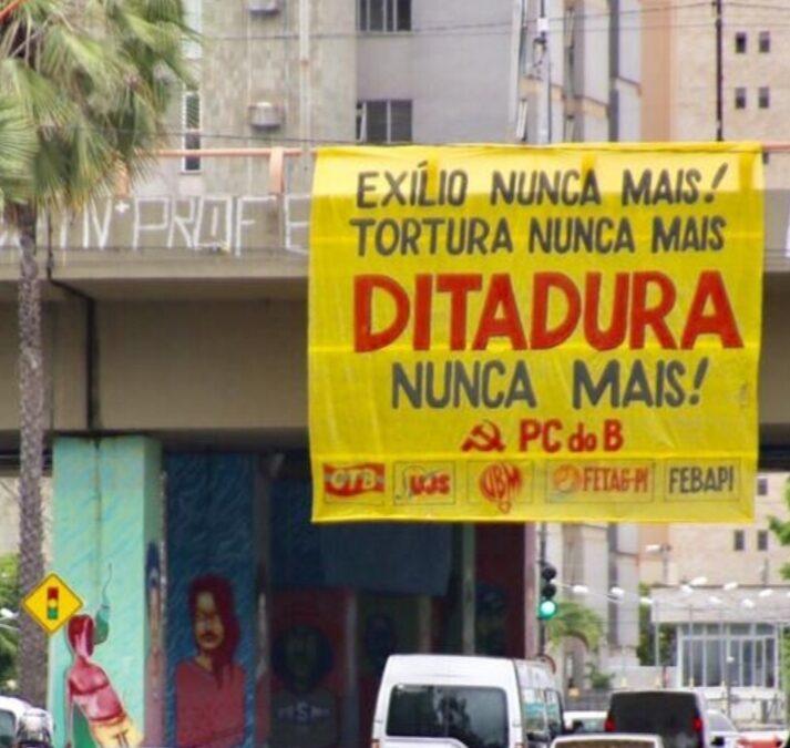Unidade do povo brasileiro em defesa da Democracia! Ditadura Nunca Mais!