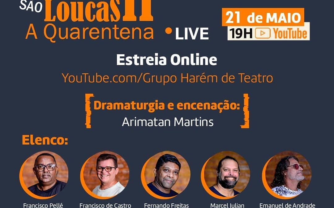 LIVE / Abrigo São Loucas – A Quarentena